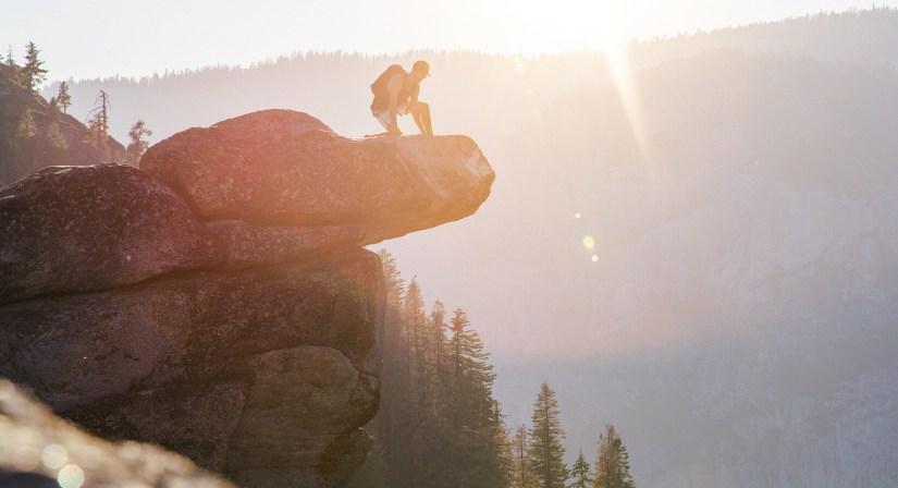 high rock climb